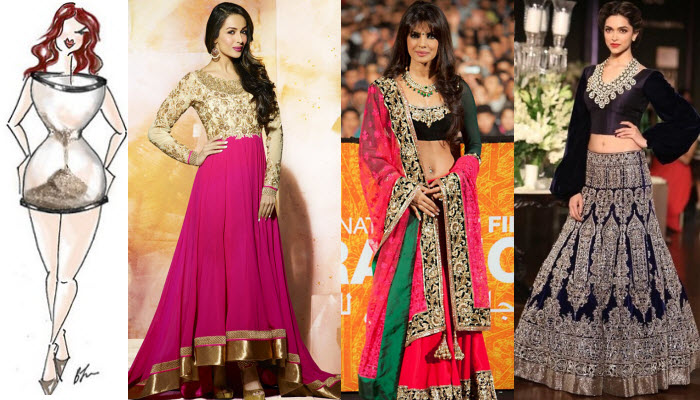 Different types of anarkali dresses according to body shapes